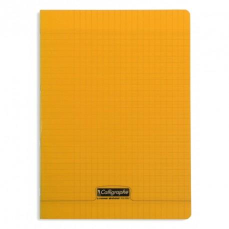 Cahier polypro Calligraphe format A4 21x29,7 96p grands carreaux (séyès) - orange