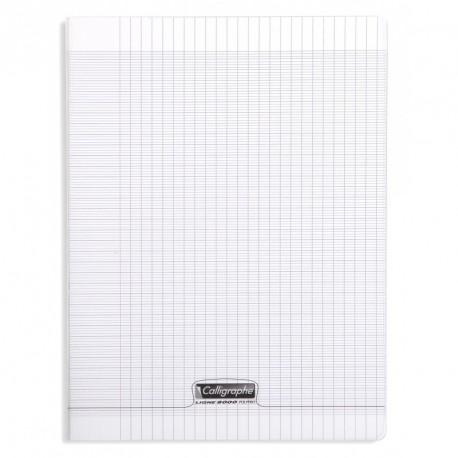 Cahier polypro Calligraphe format A4 21x29,7 96p grands carreaux (séyès) - incolore