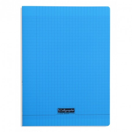 Cahier polypro Calligraphe grand format 24x32 140p grands carreaux (séyès) - bleu