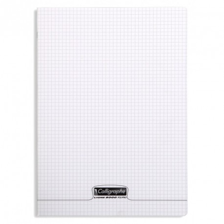 Cahier polypro Calligraphe grand format 24x32 192p petits carreaux (5x5) - incolore