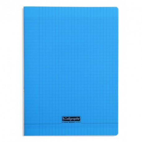 Cahier polypro Calligraphe grand format 24x32 192p grands carreaux (séyès) - bleu