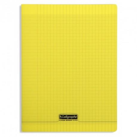 Cahier polypro Calligraphe grand format 24x32 192p grands carreaux (séyès) - jaune