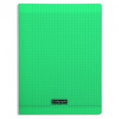 Cahier polypro Calligraphe grand format 24x32 192p grands carreaux (séyès) - vert