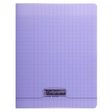 Cahier polypro Calligraphe grand format 24x32 48p grands carreaux (séyès) - violet