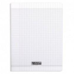 Cahier polypro Calligraphe grand format 24x32 48p grands carreaux (séyès) - incolore