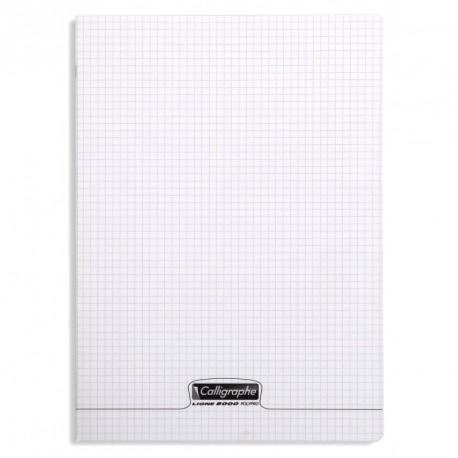 Cahier polypro Calligraphe grand format 24x32 48p petits carreaux (5x5) - incolore