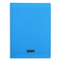 Cahier polypro Calligraphe grand format 24x32 96p grands carreaux (séyès) - bleu