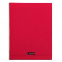 Cahier polypro Calligraphe grand format 24x32 96p grands carreaux (séyès) - rouge