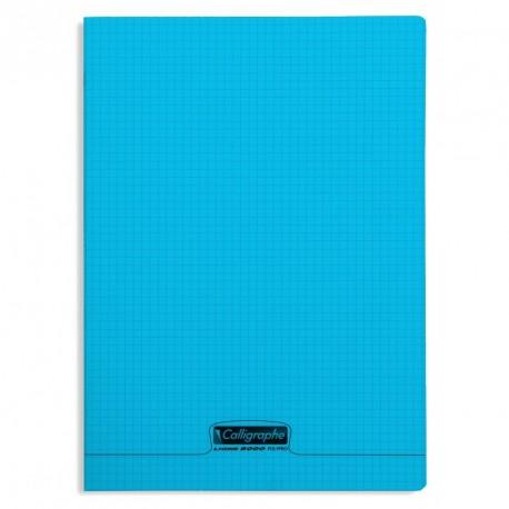 Cahier polypro Calligraphe format A4 21x29,7 96p petits carreaux (5x5) - bleu