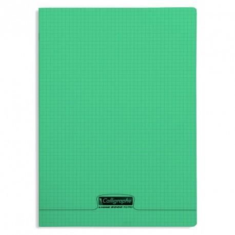 Cahier polypro Calligraphe format A4 21x29,7 96p petits carreaux (5x5) - vert