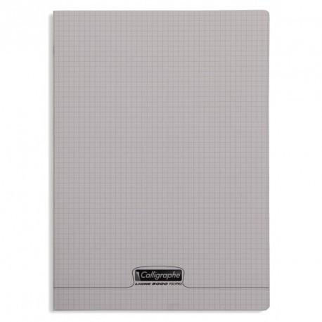 Cahier polypro Calligraphe format A4 21x29,7 96p petits carreaux (5x5) - gris