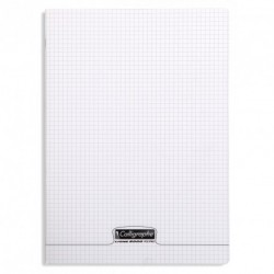Cahier polypro Calligraphe format A4 21x29,7 192p petits carreaux (5x5) - incolore