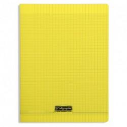 Cahier polypro Calligraphe grand format 24x32 96p grands carreaux (séyès) - jaune