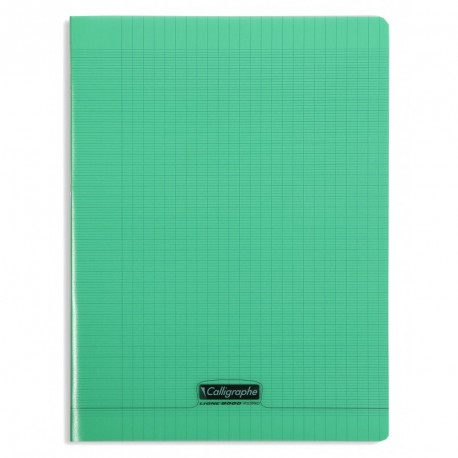 Cahier polypro Calligraphe grand format 24x32 96p grands carreaux (séyès) - vert