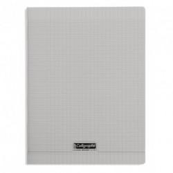 Cahier polypro Calligraphe grand format 24x32 96p grands carreaux (séyès) - gris