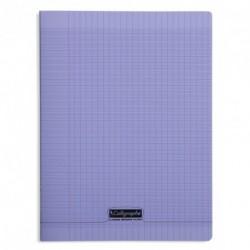 Cahier polypro Calligraphe grand format 24x32 96p grands carreaux (séyès) - violet