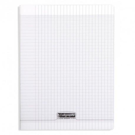 Cahier polypro Calligraphe grand format 24x32 96p grands carreaux (séyès) - incolore