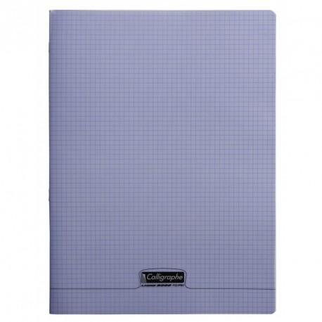 Cahier polypro Calligraphe grand format 24x32 96p petits carreaux (5x5) - violet