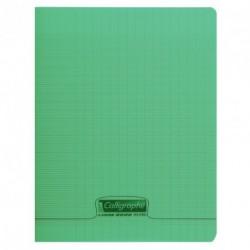Cahier polypro Calligraphe petit format 17x22 96p grands carreaux (séyès) - vert