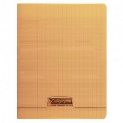 Cahier polypro Calligraphe petit format 17x22 96p grands carreaux (séyès) - orange