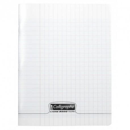 Cahier polypro Calligraphe petit format 17x22 96p grands carreaux (séyès) - incolore