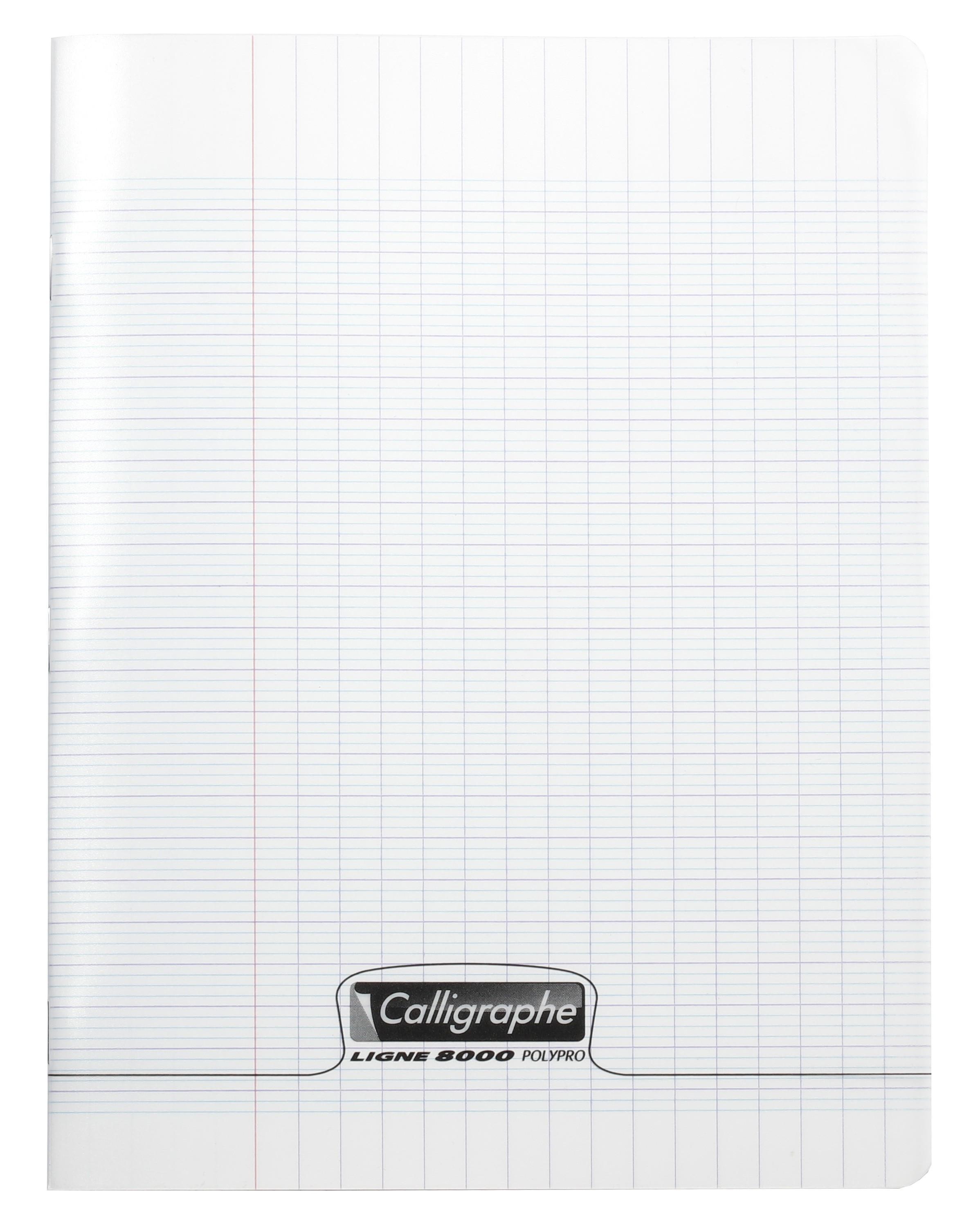 Cahier Polypro Calligraphe Petit Format 17x22 96p Petits