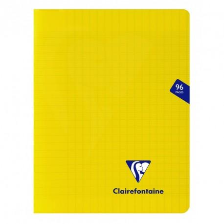 Cahier polypro Mimesys petit format 17x22 96p grands carreaux (séyès) - jaune