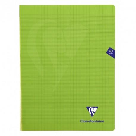 Cahier polypro Mimesys grand format 24x32 48p grands carreaux (séyès) - vert