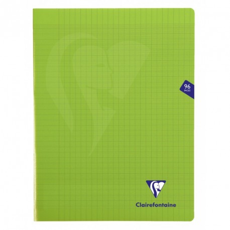 Cahier polypro Mimesys grand format 24x32 96p grands carreaux (séyès) - vert