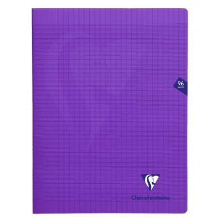 Cahier polypro Mimesys grand format 24x32 96p grands carreaux (séyès) - violet