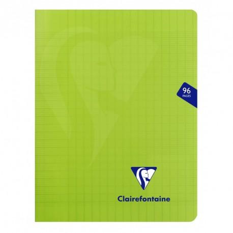 Cahier polypro Mimesys petit format 17x22 96p grands carreaux (séyès) - vert
