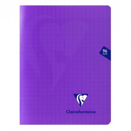 Cahier polypro Mimesys petit format 17x22 96p grands carreaux (séyès) - violet