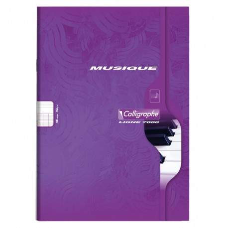 Cahier de musique format A4 21x29,7 48p séyès/portées Calligraphe