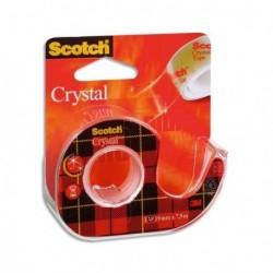 Ruban adhésif transparent Scotch Crystal 19mm x 33m avec dévidoir