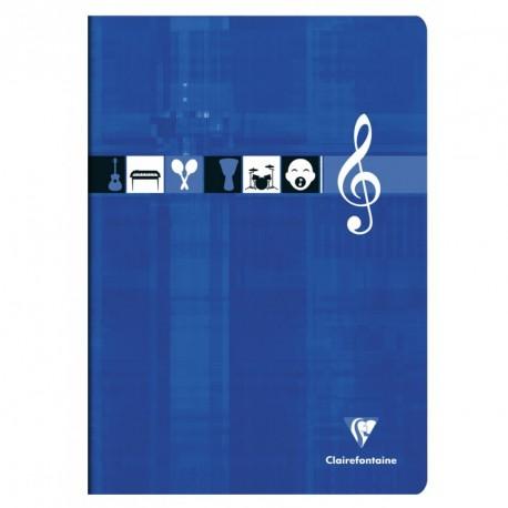 Cahier de musique format A4 21x29,7 48p séyès/portées Clairefontaine