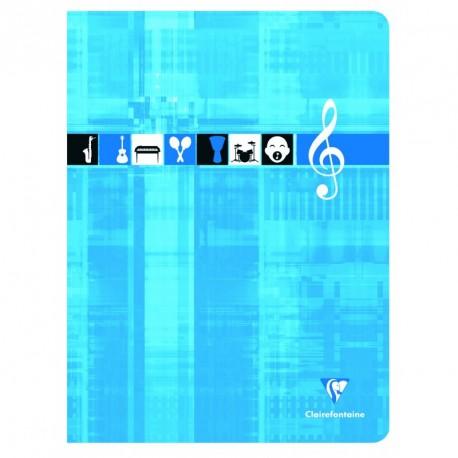 Cahier de musique grand format 24x32 48p séyès/portées Clairefontaine