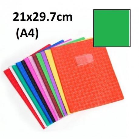 Protège-cahier format A4 21x29,7 avec porte étiquette - vert