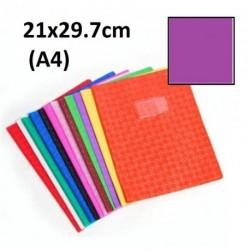 Protège-cahier format A4 21x29,7 avec porte étiquette - violet