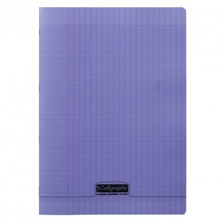 Cahier polypro Calligraphe format A4 21x29,7 48p grands carreaux (séyès) - violet