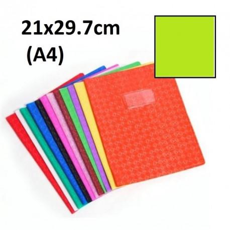 Protège-cahier format A4 21x29,7 avec porte étiquette - vert clair