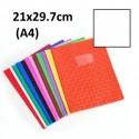 Protège-cahier format A4 21x29,7 avec porte étiquette - blanc