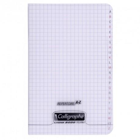 Répertoire polypro Calligraphe format 11x17 96p petits carreaux (5x5) - incolore