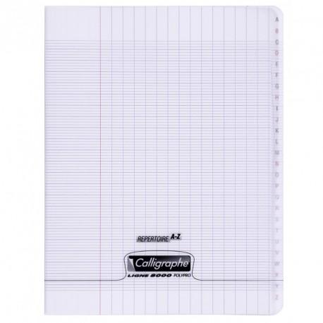 Répertoire polypro Calligraphe format 17x22 96p grands carreaux (séyès) - incolore