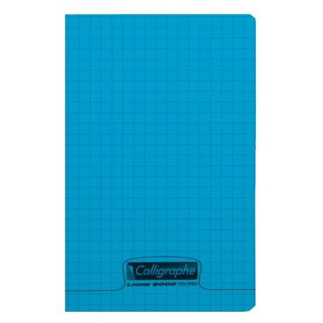 Carnet polypro Calligraphe format 9x14 96p petits carreaux (5x5) - assortis