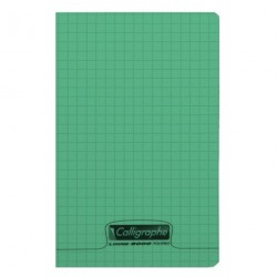 Carnet polypro Calligraphe format 11x17 96p petits carreaux (5x5) - assortis