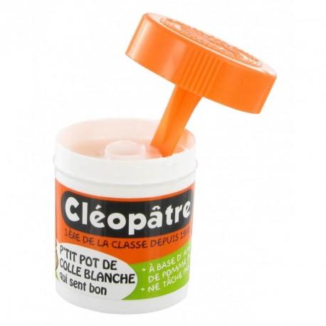 Colle blanche en pôt Cléopâtre avec applicateur - 23g