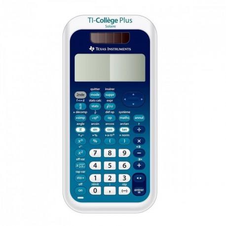 Calculatrice scientifique Texas Instrument TI collège plus solaire