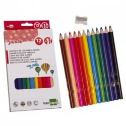 Crayons de couleur triangulaires Jumbo 1er prix - boite de 12