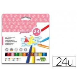 Feutres 1er prix Jumbo pointe nylon - pochette de 24 assortis