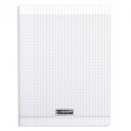 Cahier polypro Calligraphe grand format 24x32 140p grands carreaux (séyès) - incolore
